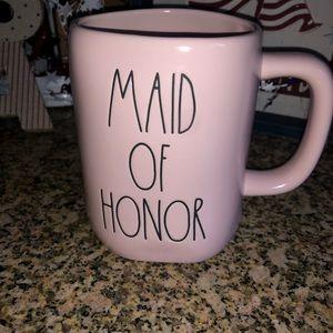 "NWT Rae Dunn ""Maid of Honor"" Pink Ceramic Mug"